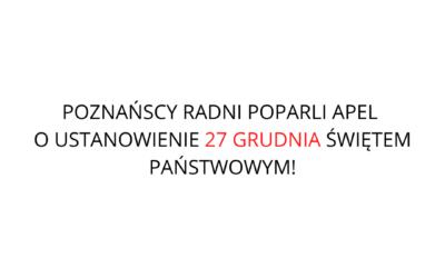 Poznańscy radni poparli apel!
